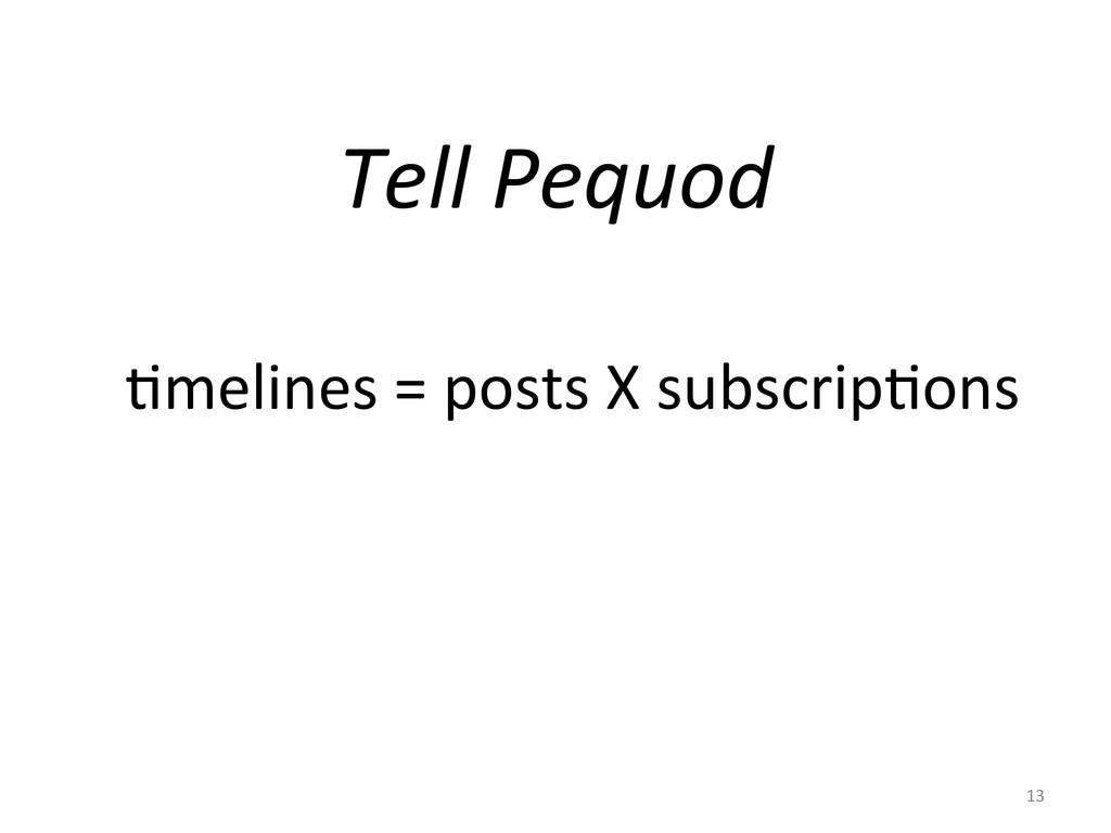 Tell Pequod  Gmelines = posts X...