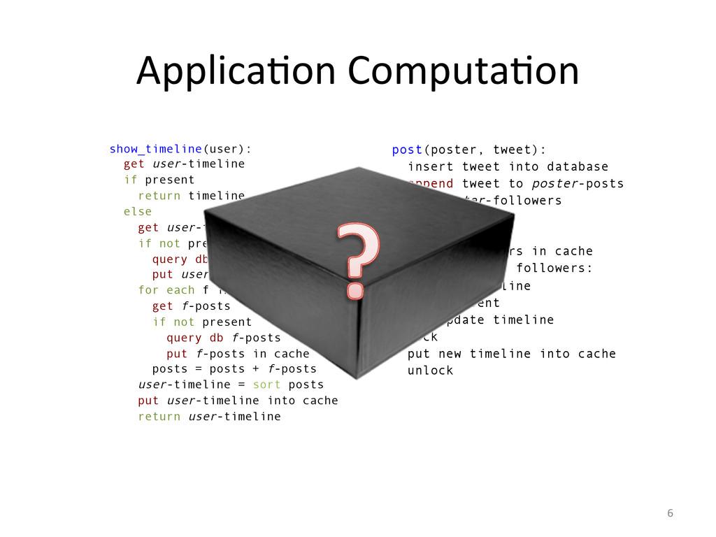 ApplicaGon ComputaGon  6  show_timelin...