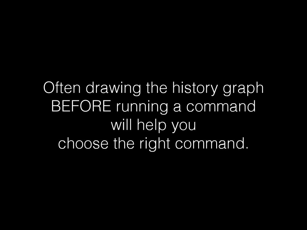 Often drawing the history graph BEFORE running ...