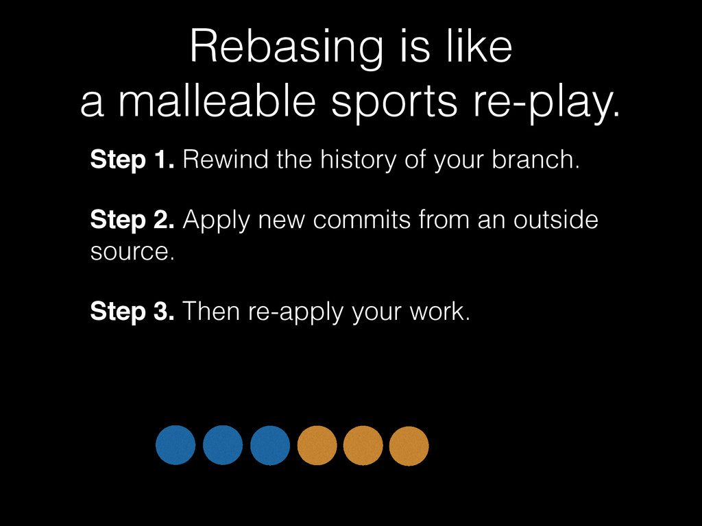 Rebasing is like