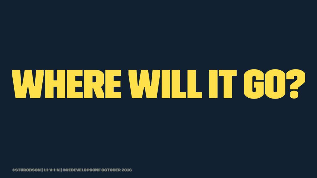 where will it go? @sturobson | l-i-v-i-n | @red...