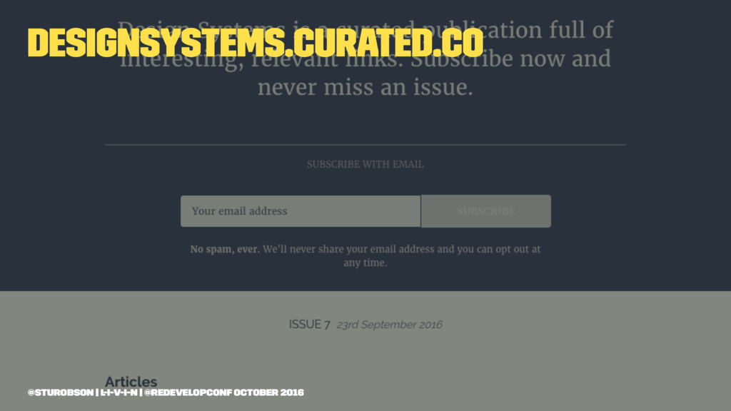 designsystems.curated.co @sturobson | l-i-v-i-n...