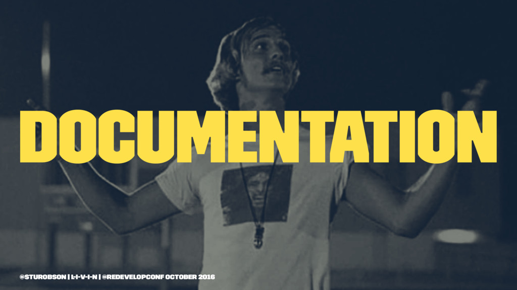 documentation @sturobson | l-i-v-i-n | @redevel...