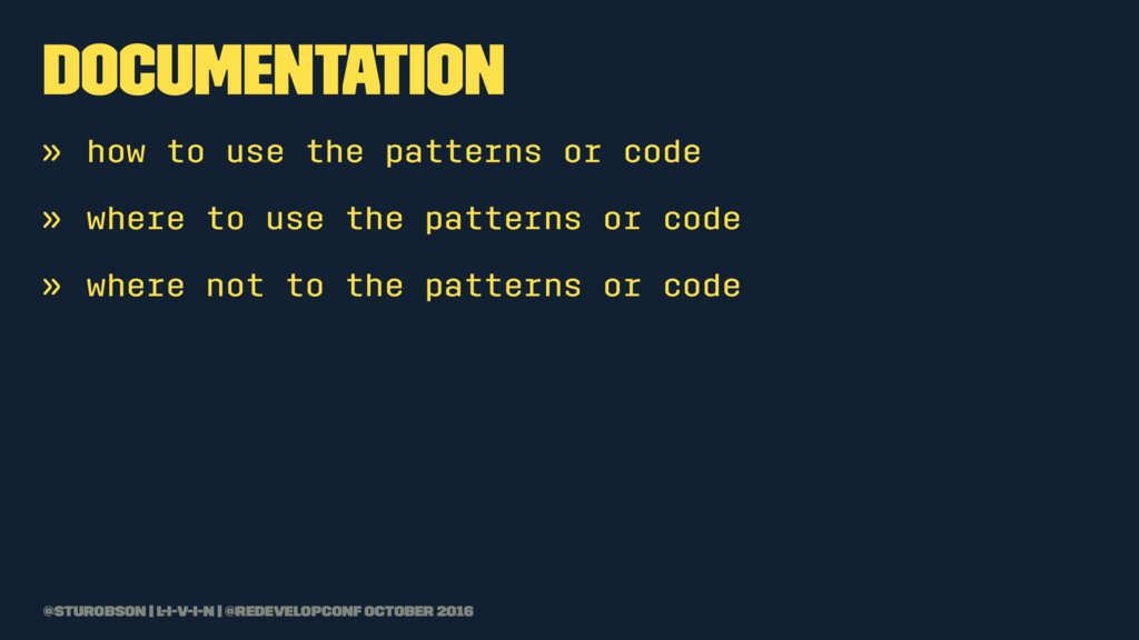 documentation » how to use the patterns or code...