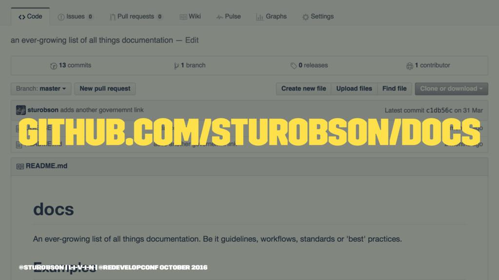 github.com/sturobson/docs @sturobson | l-i-v-i-...