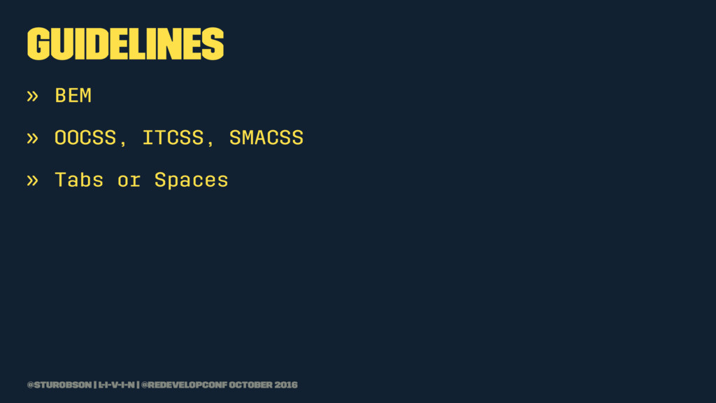 guidelines » BEM » OOCSS, ITCSS, SMACSS » Tabs ...