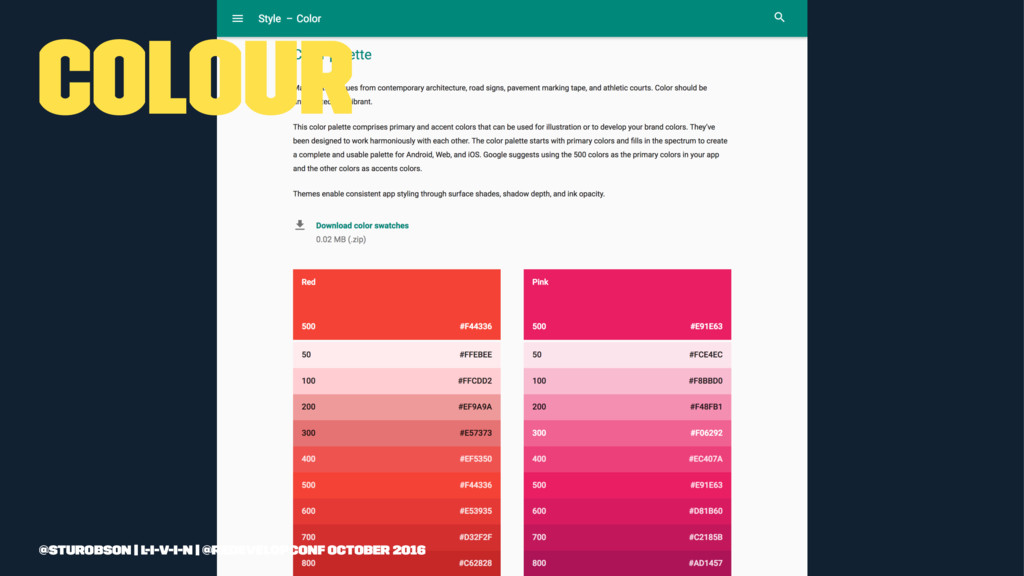 Colour @sturobson | l-i-v-i-n | @redevelopconf ...