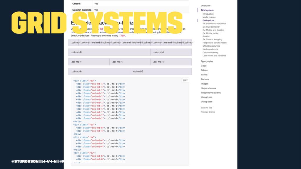 Grid systems @sturobson | l-i-v-i-n | @redevelo...