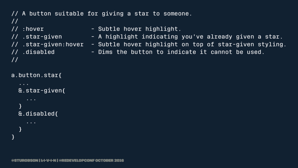 // A button suitable for giving a star to someo...