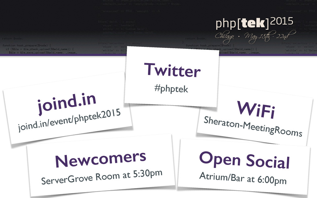WiFi Sheraton-MeetingRooms joind.in joind.in/ev...
