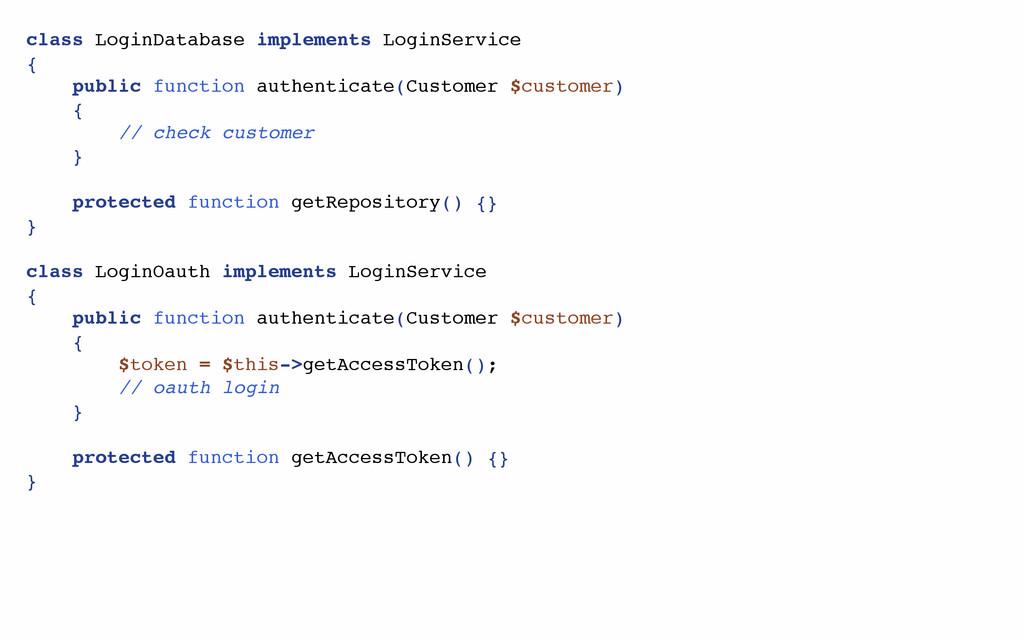 class LoginDatabase implements LoginService { p...