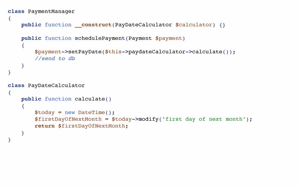 class PaymentManager { public function __constr...