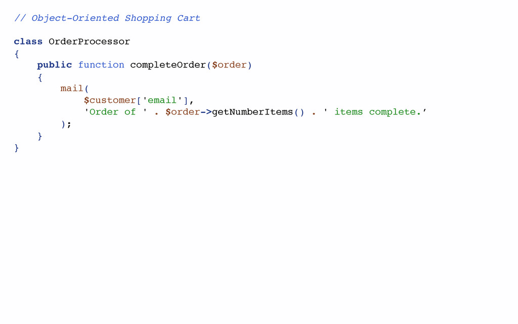 // Object-Oriented Shopping Cart class OrderPro...