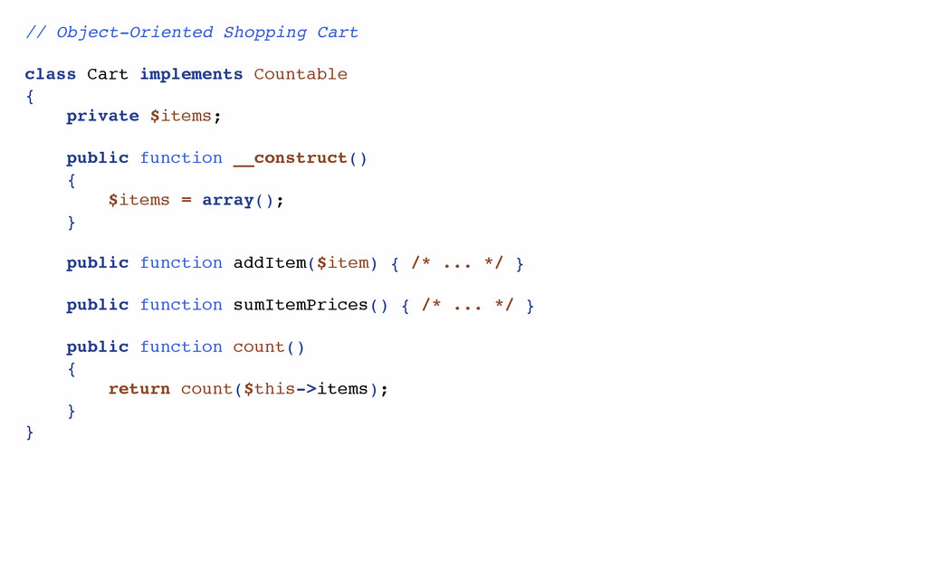 // Object-Oriented Shopping Cart class Cart imp...
