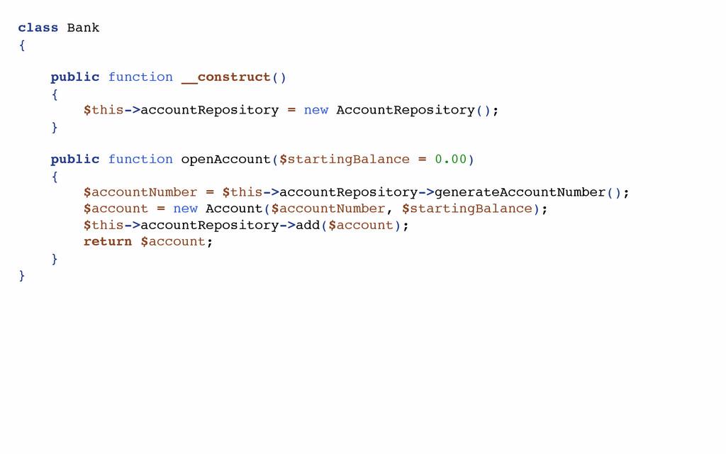 class Bank { public function __construct() { $t...