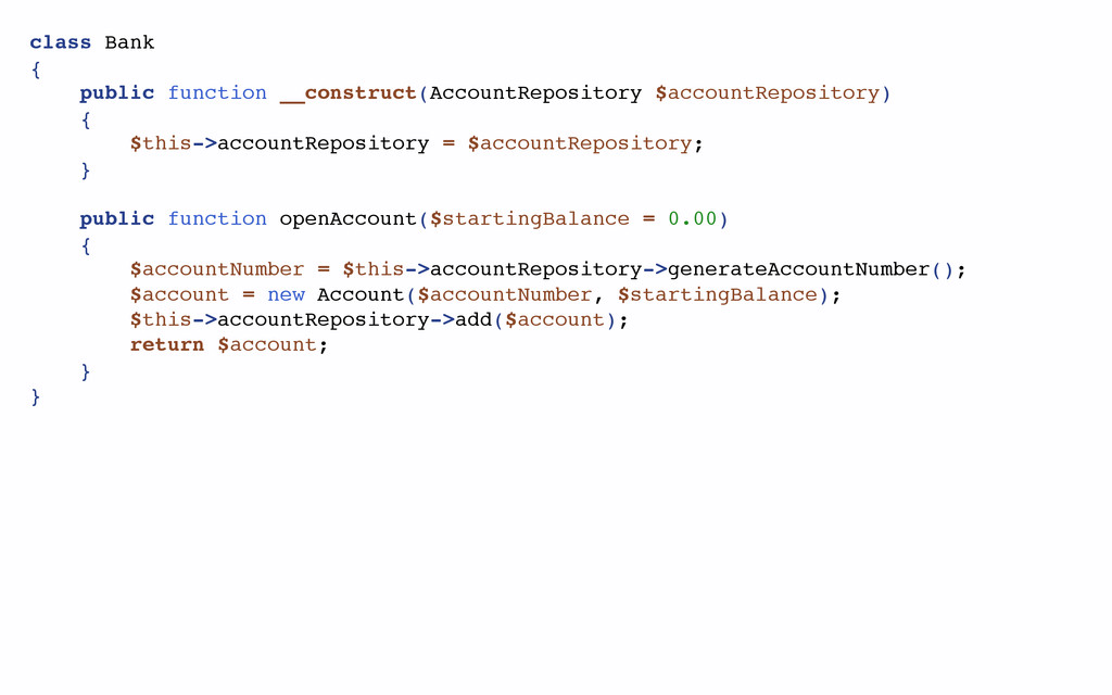 class Bank { public function __construct(Accoun...