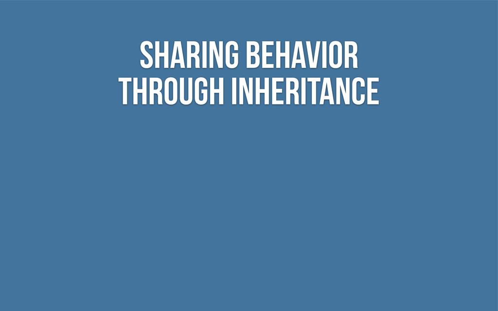 Sharing Behavior through Inheritance
