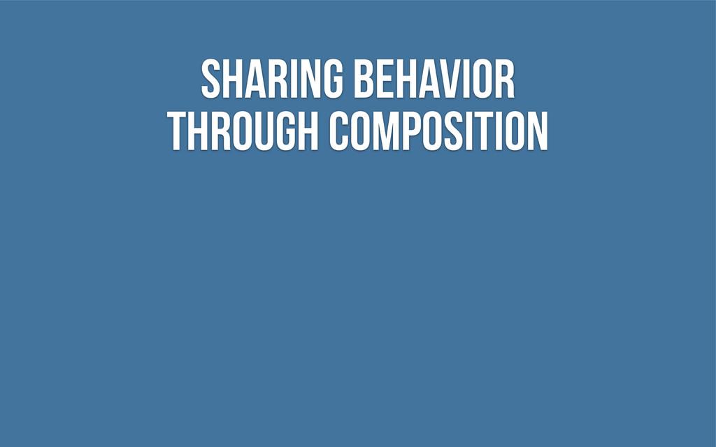 Sharing behavior through composition