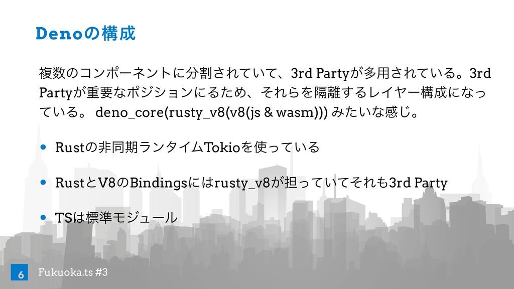 Fukuoka.ts #3 Denoͷߏ ෳͷίϯϙʔωϯτʹׂ͞Ε͍ͯͯɺ3rd Pa...