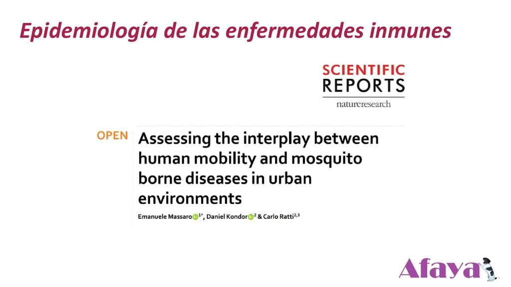 Epidemiología de las enfermedades inmunes