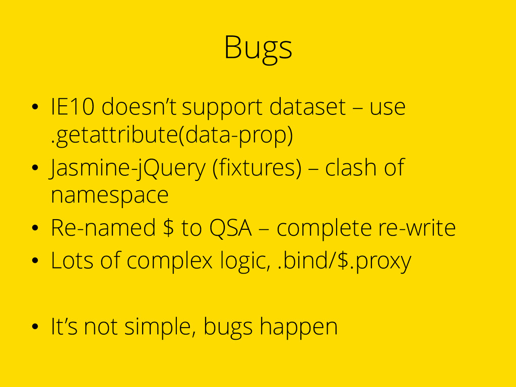 Bugs • IE10 doesn't support dataset – use .geta...
