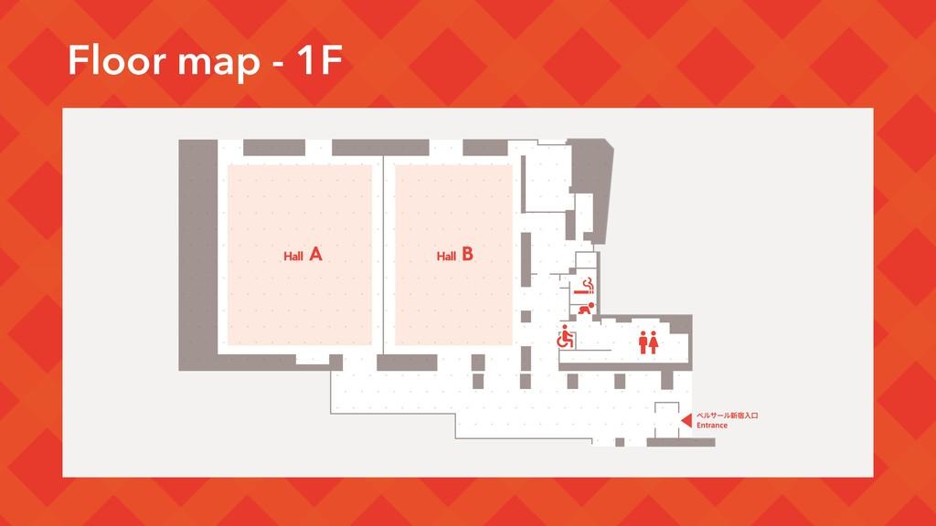 Floor map - 1F