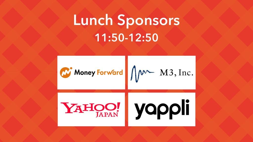 Lunch Sponsors 11:50-12:50