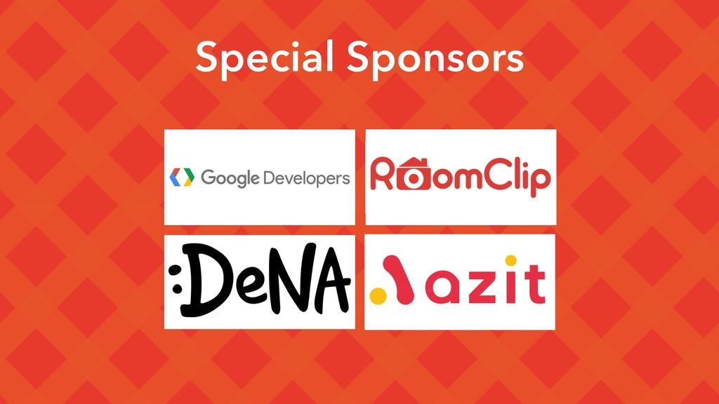 Special Sponsors