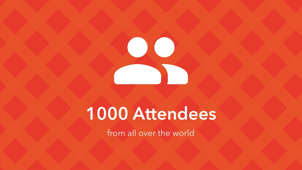 1000 Attendees from all over the world