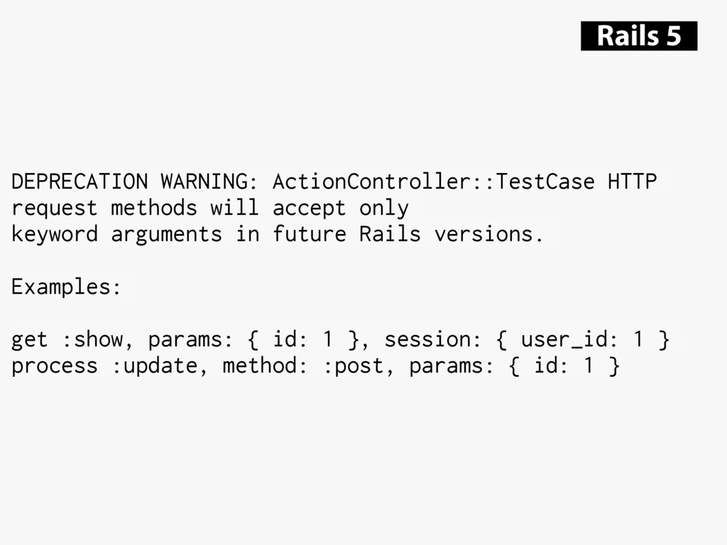 DEPRECATION WARNING: ActionController::TestCase...