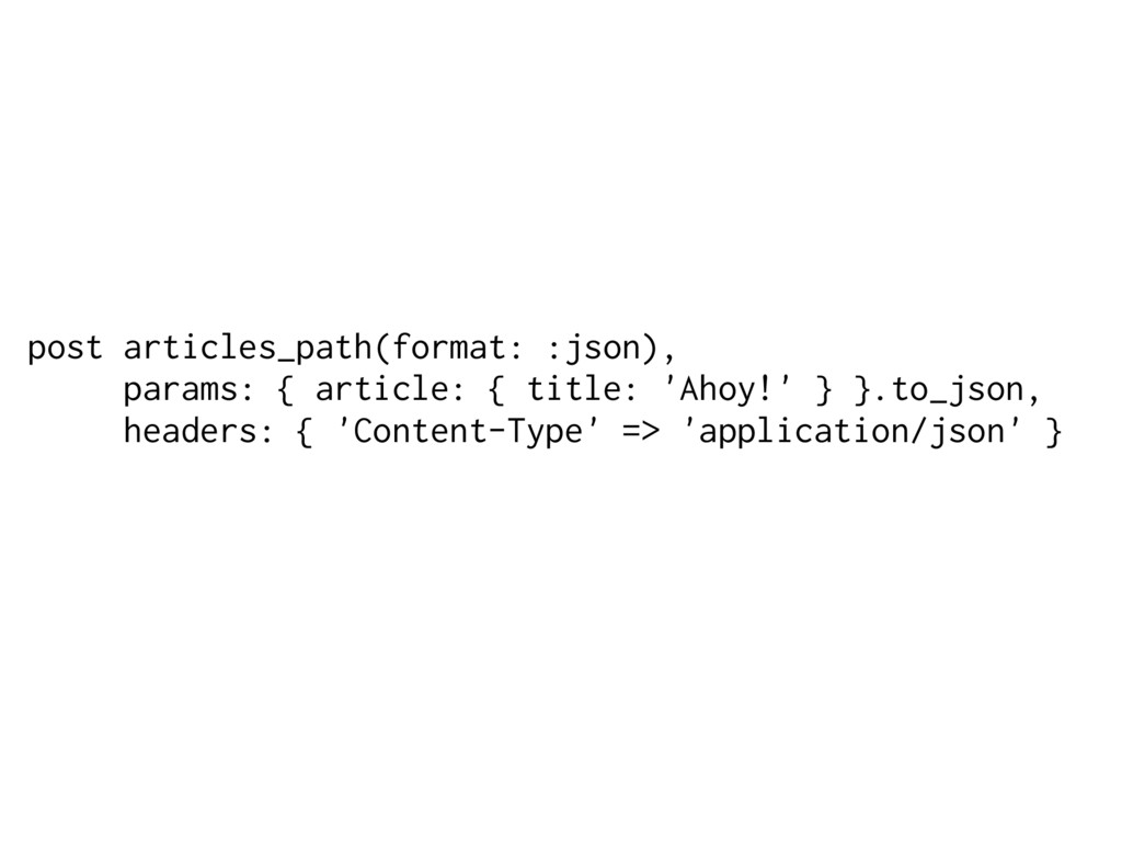 post articles_path(format: :json), params: { ar...