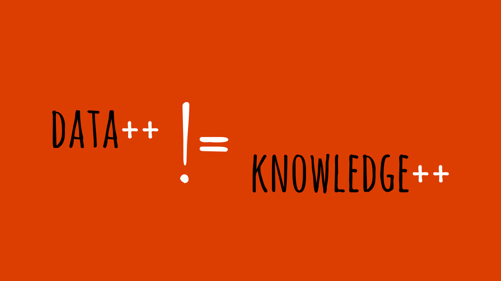 data++ != knowledge++
