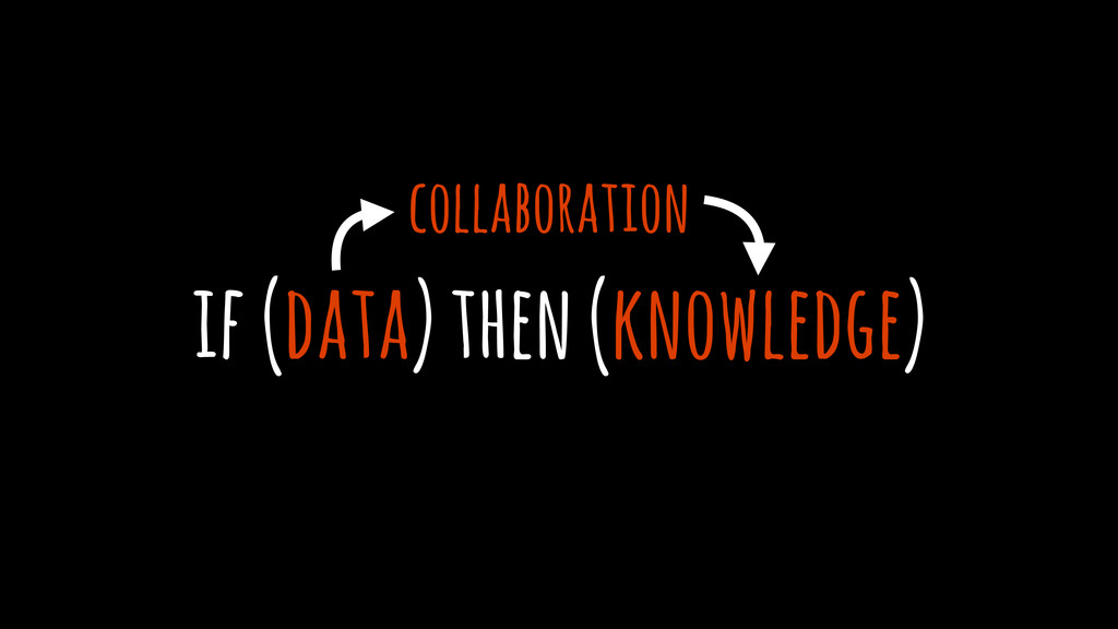 if (data) then (knowledge) collaboration