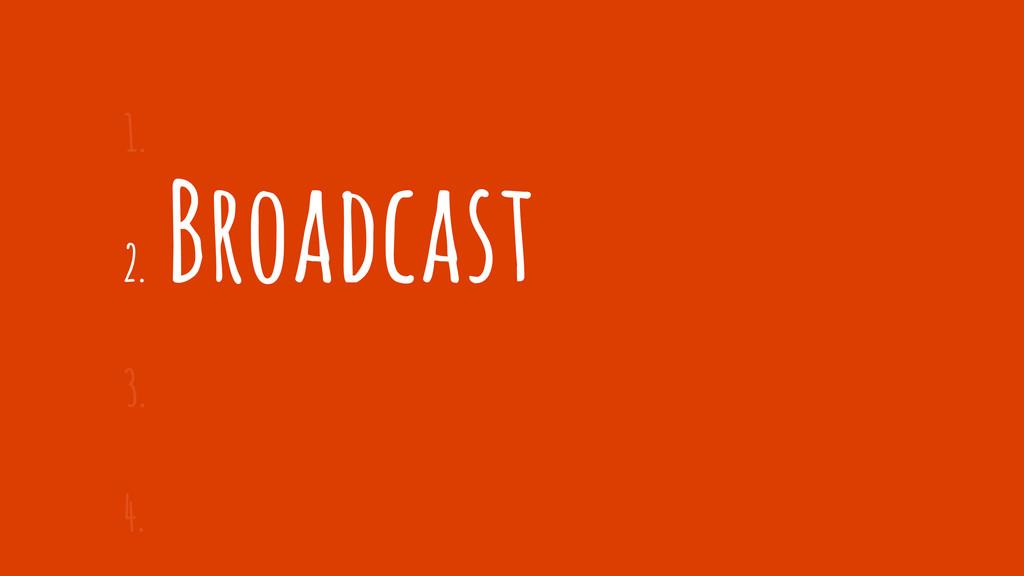 2. Broadcast 1. 3. 4.