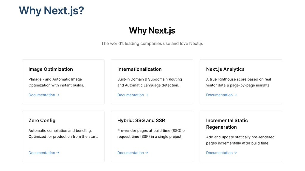 Why Next.js?