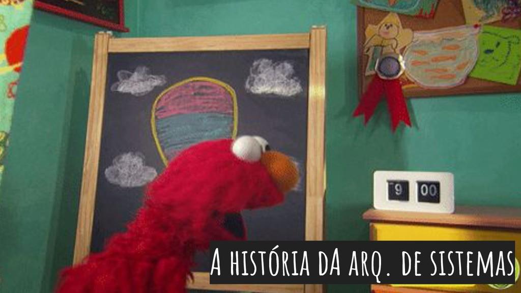 A história dA arq. de sistemas