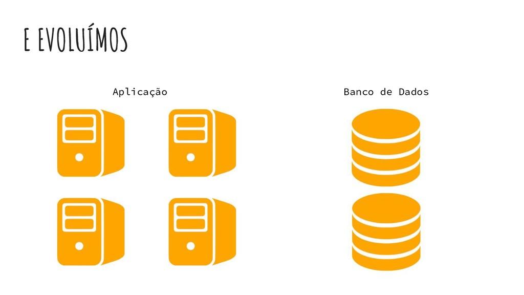 E EVOLUÍMOS Aplicação Banco de Dados