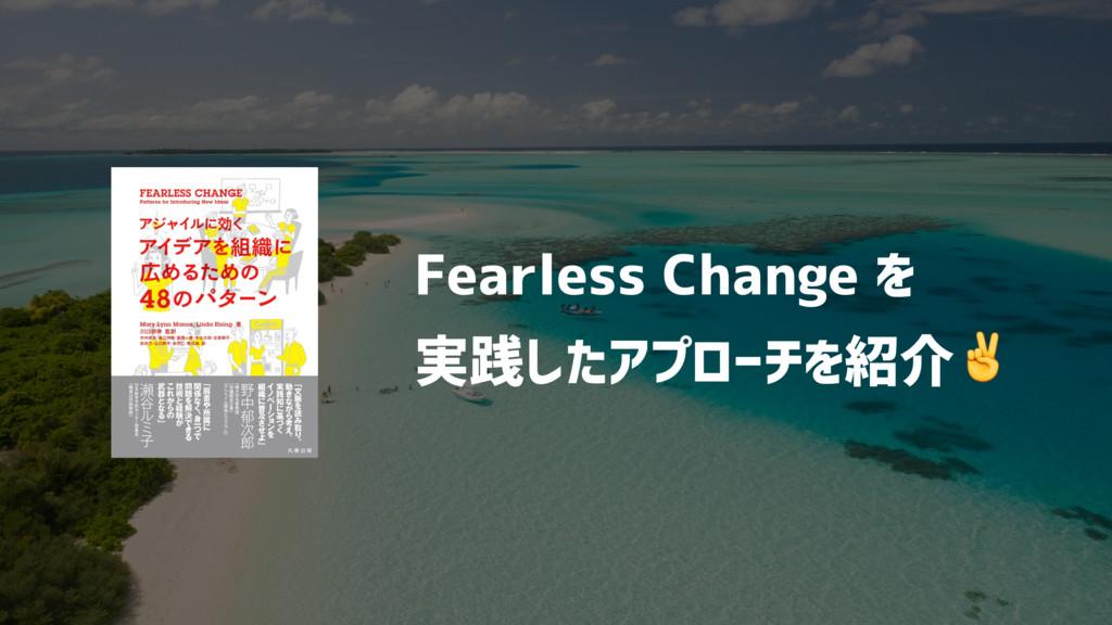 Fearless Change を 実践したアプローチを紹介✌
