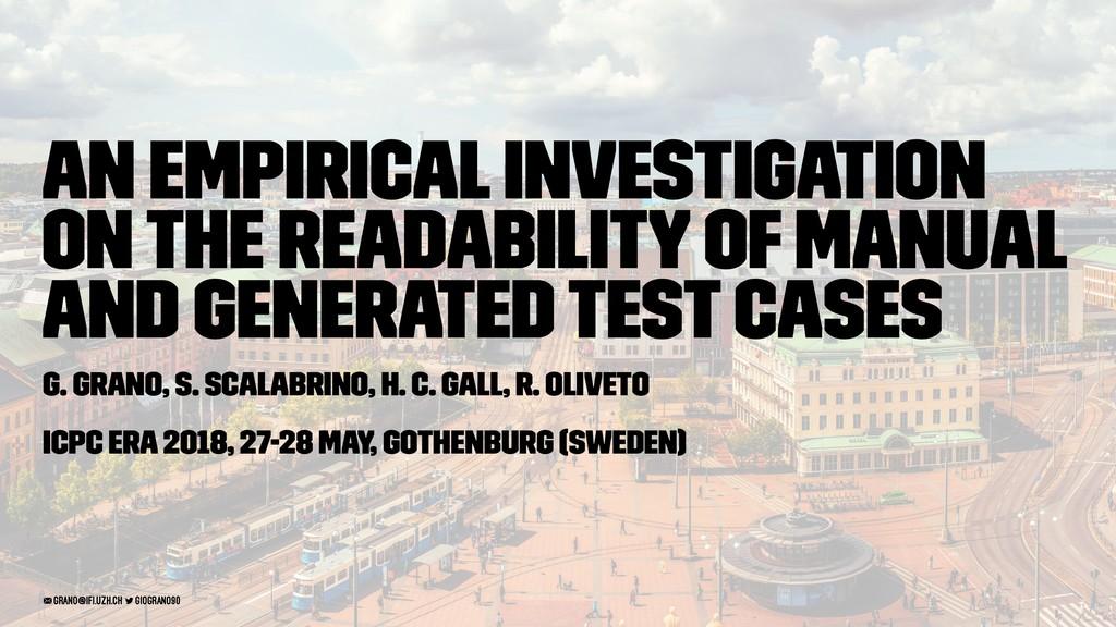 An Empirical Investigation on the Readability o...