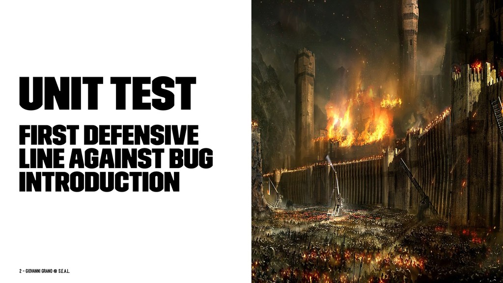 Unit Test First defensive line against bug intr...