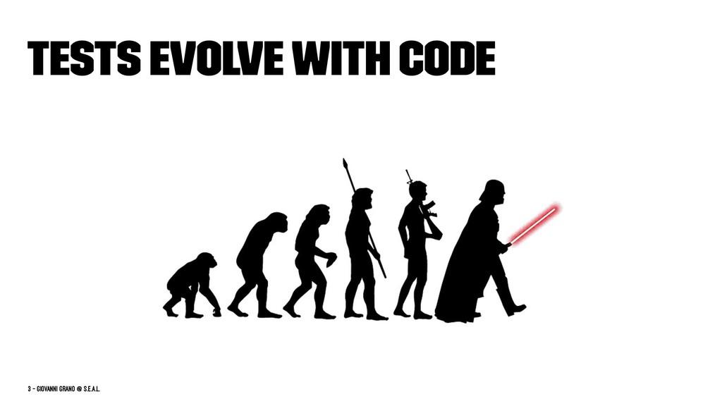 Tests evolve with code 3 — Giovanni Grano @ s.e...