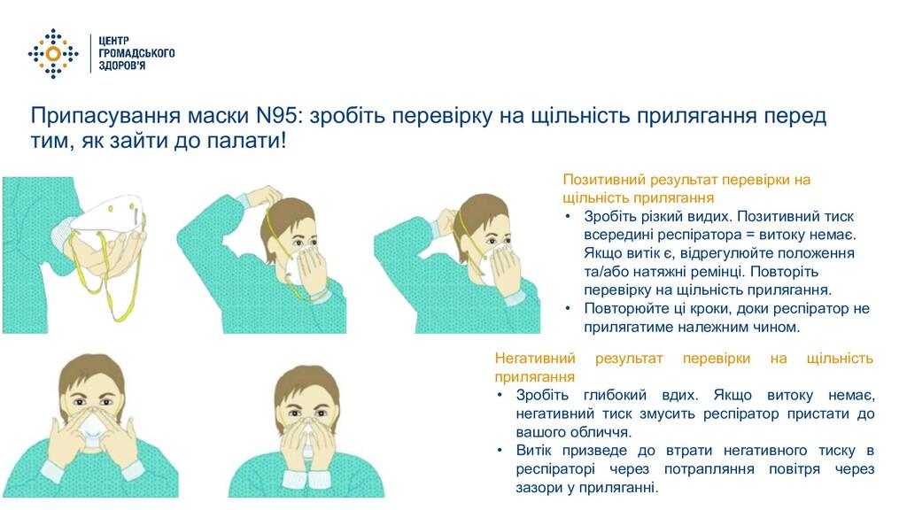 Припасування маски N95: зробіть перевірку на щі...