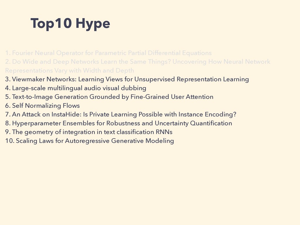 Top10 Hype 1. Fourier Neural Operator for Param...
