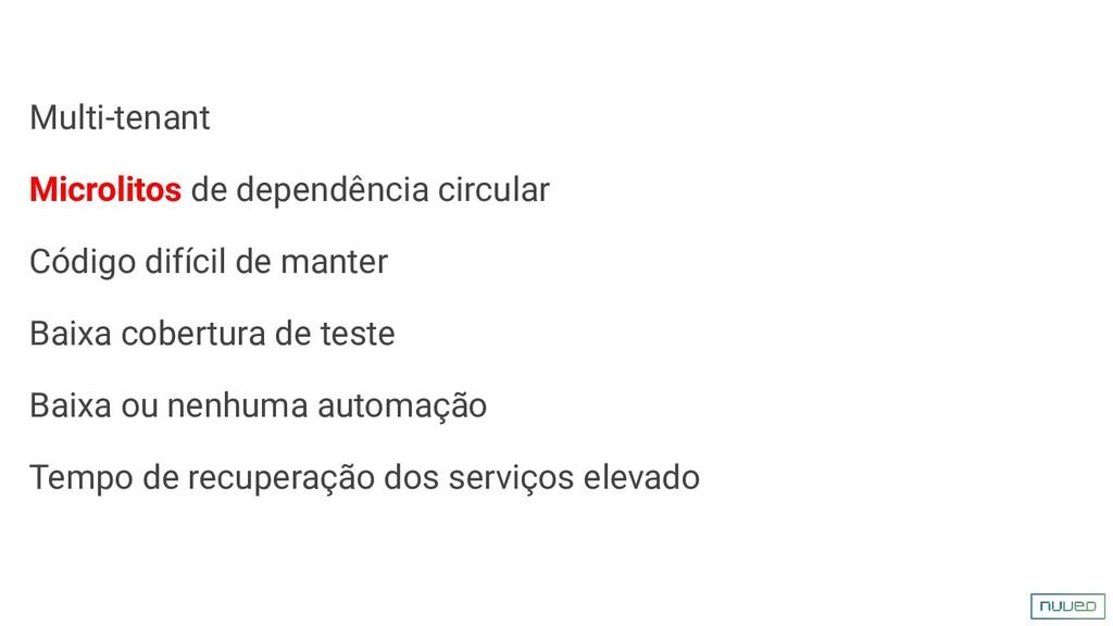 Multi-tenant Microlitos de dependência circular...