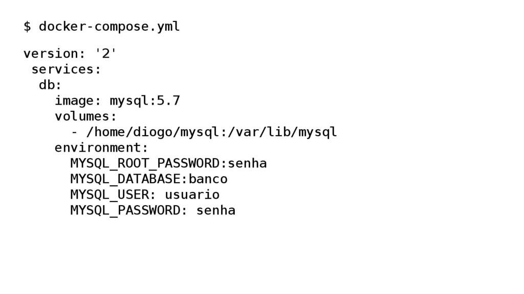 $ docker-compose.yml version: '2' services: db:...
