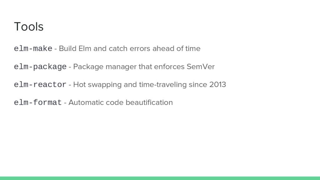Tools elm-make - Build Elm and catch errors ahe...