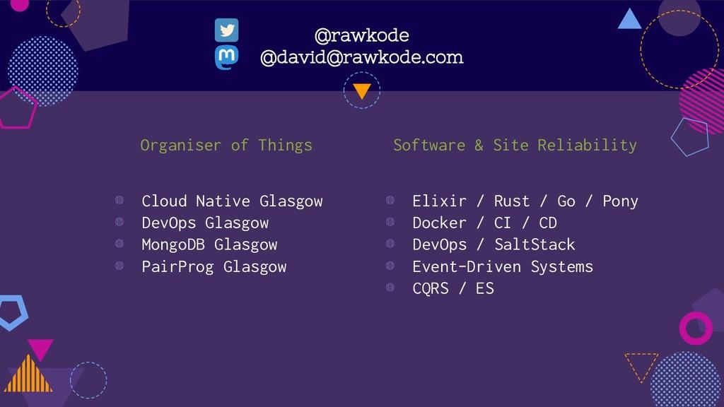 @rawkode @david@rawkode.com Organiser of Things...