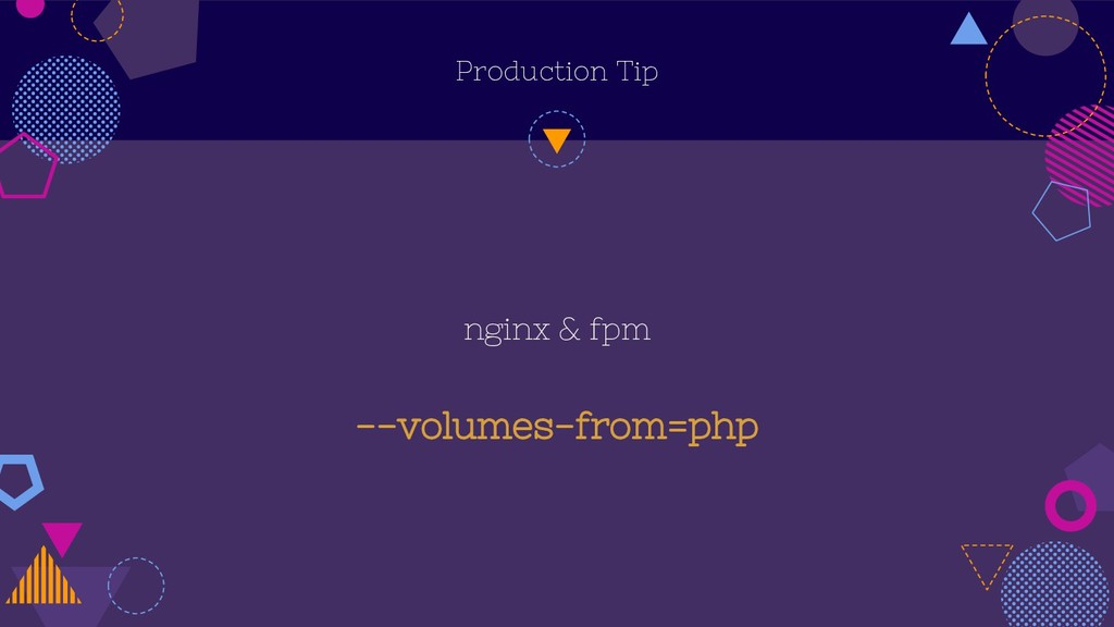 Production Tip nginx & fpm --volumes-from=php