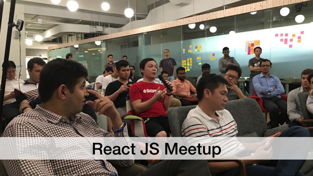 React JS Meetup