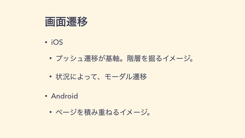 ը໘ભҠ • iOS • ϓογϡભҠ͕ج࣠ɻ֊Λ۷ΔΠϝʔδɻ • ঢ়گʹΑͬͯɺϞʔμϧ...
